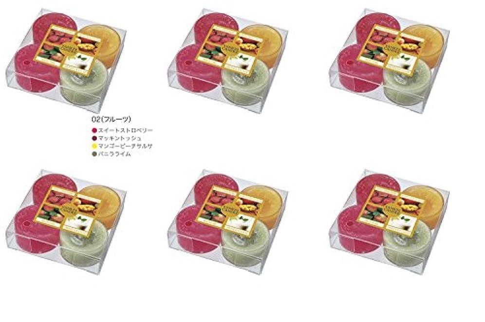 拾う急行する頭蓋骨YANKEE CANDLE(ヤンキーキャンドル) ティーライトアソート フルーツ【6点セット】