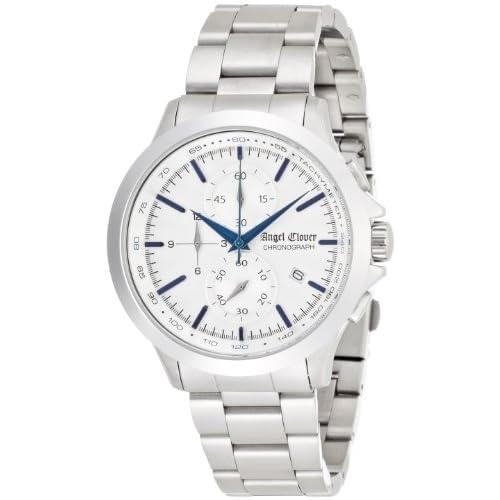 [エンジェルクローバー]Angel Clover 腕時計 ブラックウォーカー シルバー文字盤 クロノグラフ BW40SSV メンズ