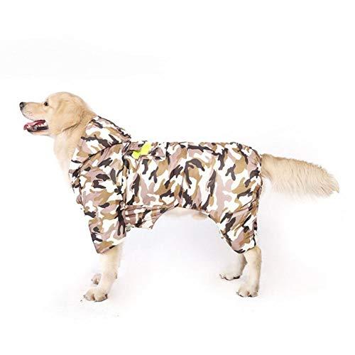 大きな犬の迷彩服の秋と冬のゴールデンレトリバー冬の肥厚サモエド中型犬大型犬冬のラブラドールペット暖かいジャケット,XL