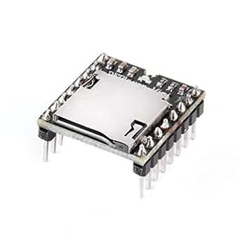 HiLetgo TFカード Uディスクミニ MP3プレーヤー オーディオ 音声 モジュールボード Arduino DFPlayのため