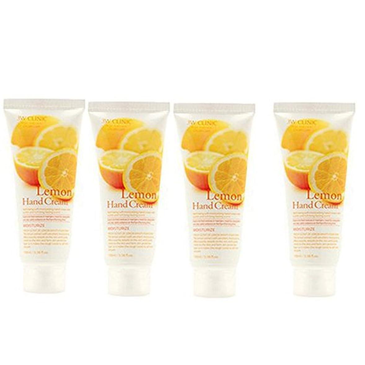 太平洋諸島好奇心ストロー3w Clinic[韓国コスメARRAHAN]Moisturizing Lemon Hand Cream モイスチャーリングレモンハンドクリーム100mlX4個 [並行輸入品]