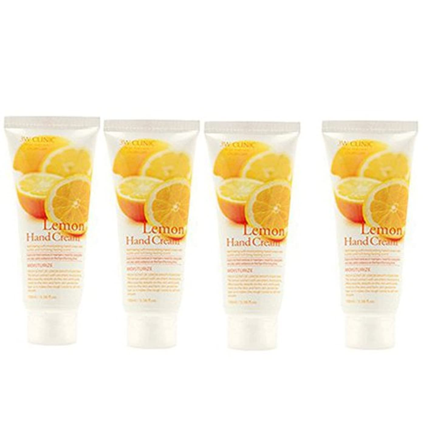 うがい規則性コード3w Clinic[韓国コスメARRAHAN]Moisturizing Lemon Hand Cream モイスチャーリングレモンハンドクリーム100mlX4個 [並行輸入品]