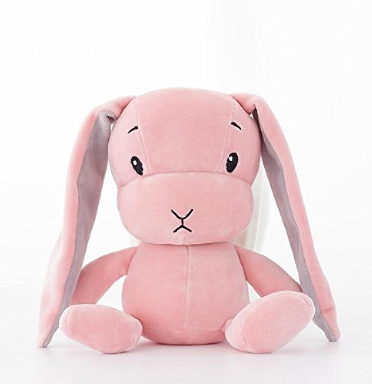 HuaQingPiJu-JP クリエイティブラッキーラビットぬいぐるみぬいぐるみぬいぐるみソフトクッションギフト(ピンク、背の高い30cm)