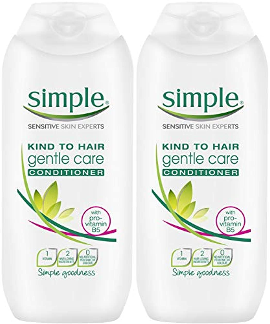 日曜日で出来ているけん引Simple Kind To Hair Gentle Care Conditioner 200Ml - Pack Of 2 by Simple