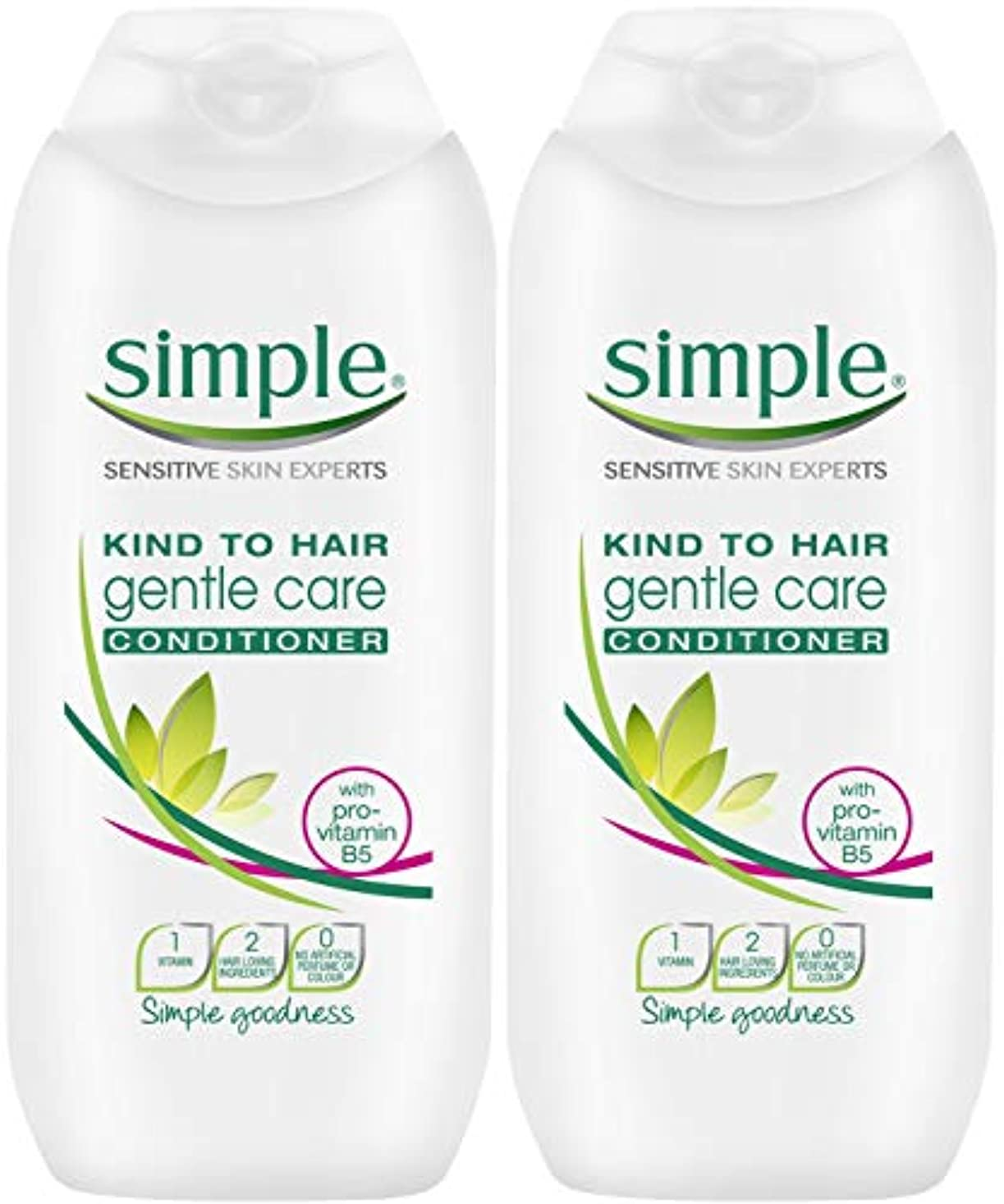 Simple Kind To Hair Gentle Care Conditioner 200Ml - Pack Of 2 by Simple