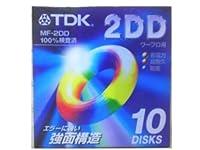 TDK ワープロ用 3.5型 2DD フロッピーディスク 10枚 アンフォーマット プラスチックケース入 MF-2DD