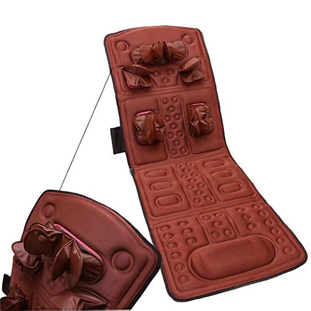 チームローズ保存する多機能暖房エアバッグマッサージマットレスセラピーネックウエストボディリラクゼーションベッドクッション健康解凍マッサージャーをバックショルダー