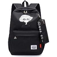 School Backpack Fashion Luminous School Bags for Girls Teenage USB Charging Female Backpack Women Schoolbag Teen Large Black Bookbag (Color : B, Size : -)