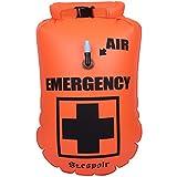 St.espoir ドライバッグ 空気入れ付 浮き袋にもなる ショルダー&手持ち両方OK キャンプ、ビーチパーティは勿論、非常用としても使える