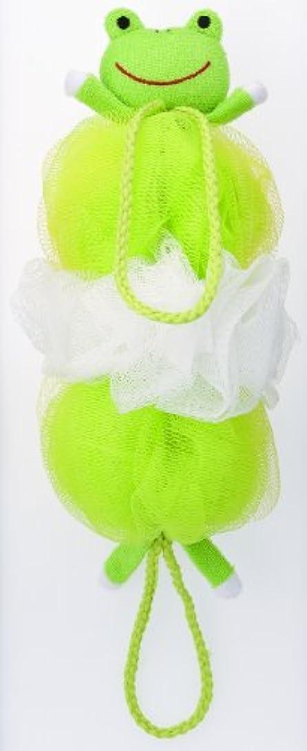 見出し連続した聡明マーナ ボディースポンジ 「背中も洗えるシャボンボール」 カエル B876G