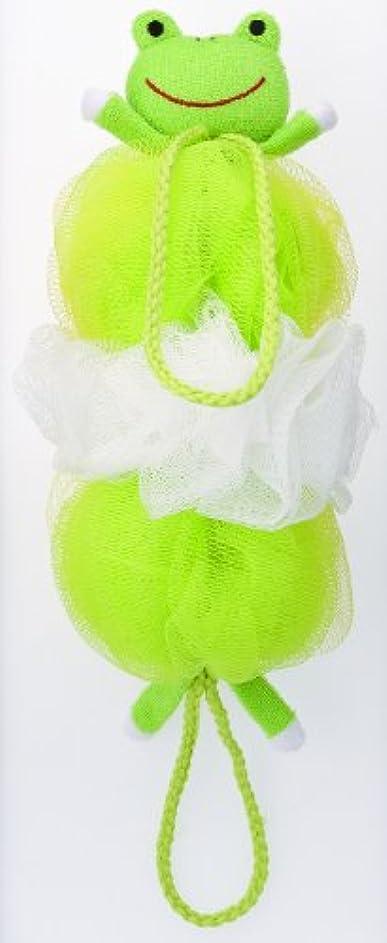 その充電委託マーナ ボディースポンジ 「背中も洗えるシャボンボール」 カエル B876G