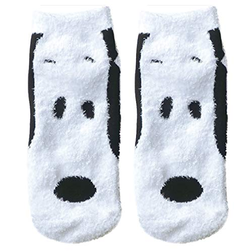 ピーナッツ もこもこ靴下 スヌーピー フェイス ホワイト 22cm~24cm SNAP896J
