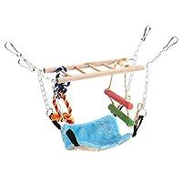 xuuyuu オウムハンモック インコ 鳥 吊下げタイプ玩具 鳥用おもちゃ ケージに掛けるベッド 小動物ベッド 暖かい巣 運動不足 ストレス解消 おもちゃ