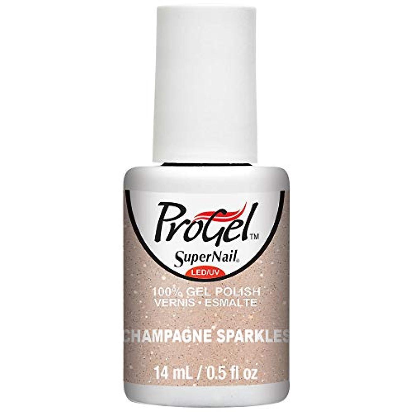 バッテリー目の前のバラエティSuperNail ProGel Gel Polish - Champagne Sparkles - 0.5oz / 14ml