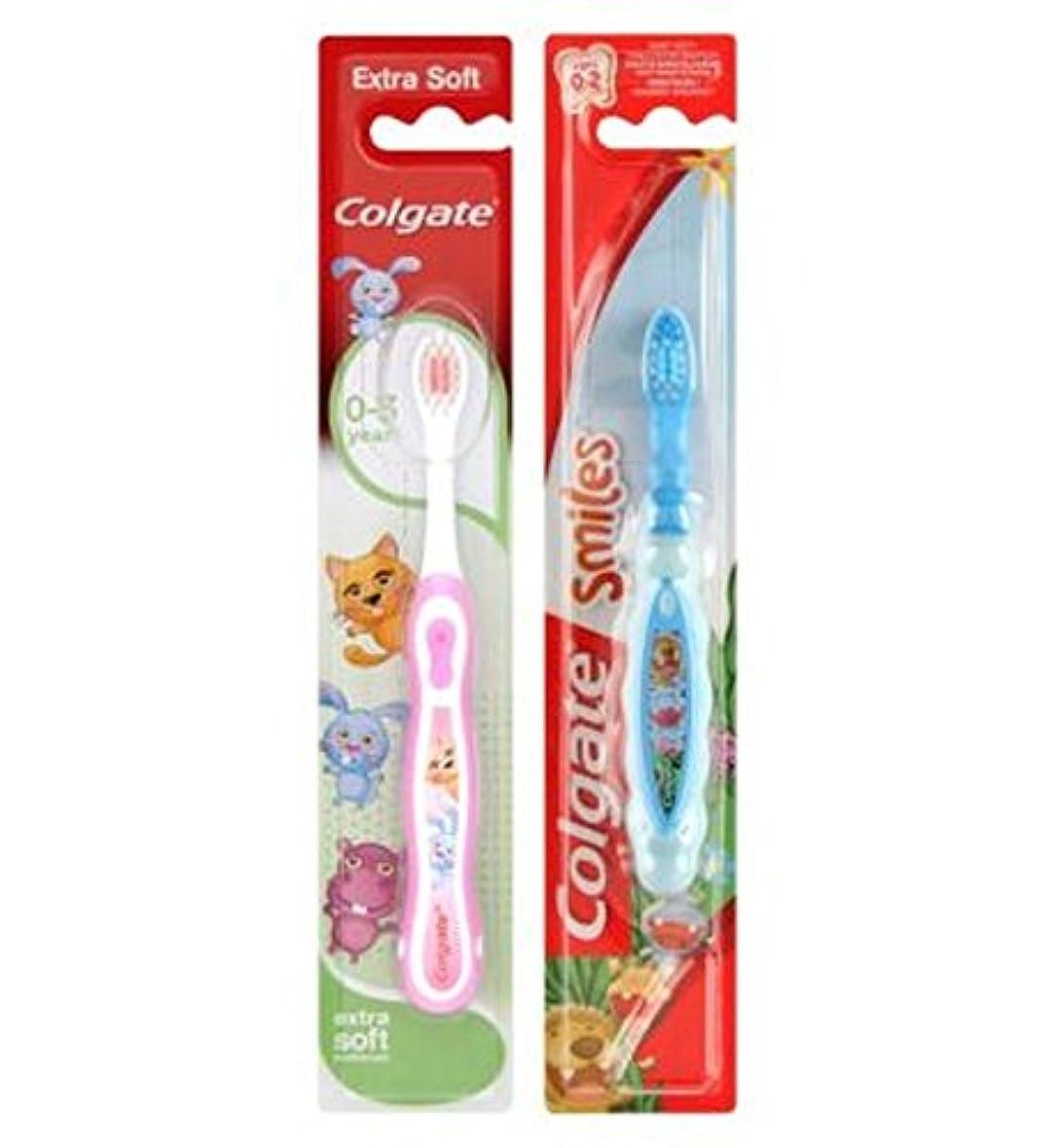 頑張るビーム明確なコルゲート私の最初の歯ブラシ (Colgate) (x2) - Colgate My First Toothbrush (Pack of 2) [並行輸入品]