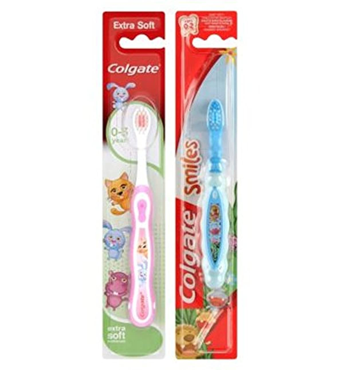 信念特に省略コルゲート私の最初の歯ブラシ (Colgate) (x2) - Colgate My First Toothbrush (Pack of 2) [並行輸入品]
