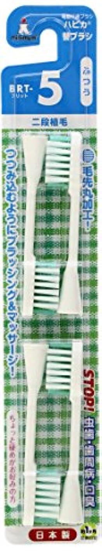 連鎖スノーケルイーウェルミニマム 電動付歯ブラシ ハピカ 専用替ブラシ 2段植毛 毛の硬さ:ふつう BRT-5 4個入