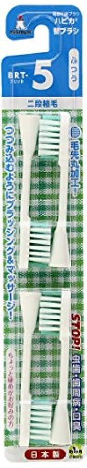 ベンチ道徳の発火するミニマム 電動付歯ブラシ ハピカ 専用替ブラシ 2段植毛 毛の硬さ:ふつう BRT-5 4個入