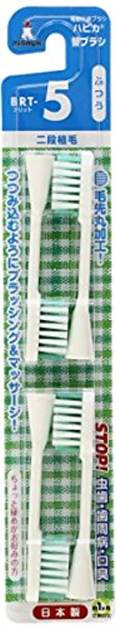 意見扇動任命ミニマム 電動付歯ブラシ ハピカ 専用替ブラシ 2段植毛 毛の硬さ:ふつう BRT-5 4個入