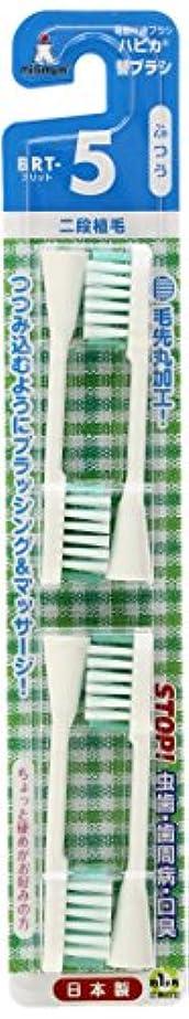 ハードリング不安違反するミニマム 電動付歯ブラシ ハピカ 専用替ブラシ 2段植毛 毛の硬さ:ふつう BRT-5 4個入