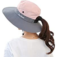 Muryobao Women's Summer Sun UV Protection Hat Foldable Wide Brim Boonie Hats Beach Safari Fishing