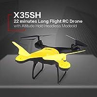Ququack X35SH 2.4G RCドローンクワッドコプター22分ロングフライト?高度ホールドヘッドレスモード