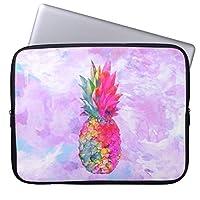 UDDESIGN明るいネオンハワイのパイナップル熱帯水彩画 13.3インチ PCインナーバッグ 防水 マックブックケース ラップトップ ノートパソコン/MacBook Pro用