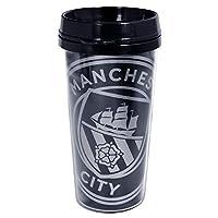 マンチェスター・シティ フットボールクラブ Manchester City FC オフィシャル商品 React トラベルマグ タンブラー (ワンサイズ) (ブラック)