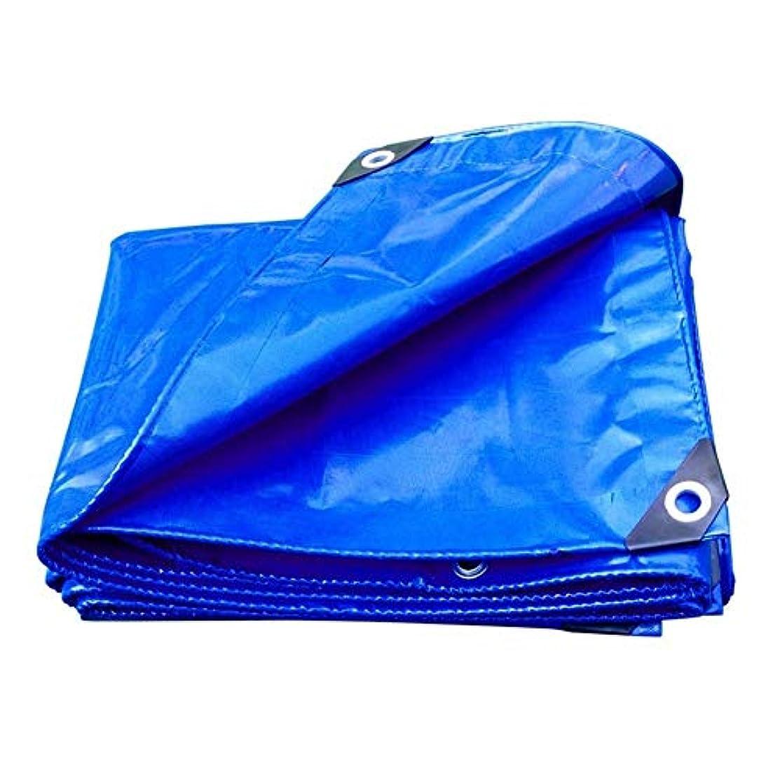 マウント毎年上昇防水シート防水日焼け防止防雨シェード布、頑丈なpvcタープ、屋外断熱耐久性、トラックの屋根ボート用 FENGMIMG (色 : 青, サイズ さいず : 4x4M)