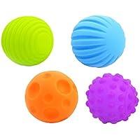 Fenteer 感覚器官の開発   4枚入り ラバー製  マルチ ソフトボール ふわふわ  玩具  ギフト  赤ちゃん ベビー