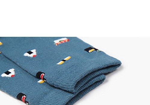 Nibao春秋冬 レディース カジュアル ソックス 女性のかわいい 食べ物漫画 綿靴下 防寒対策靴下 ファッション 5足