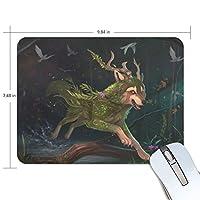 Anmumi マウスパッド 滑り止め オオカミ 19×25cm ゲームに適用 かわいい オシャレ レディース メンズ 子供 ゴム 実用性 パソコン対応