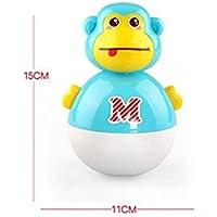 KEANER 新生児 乳児 ロールポリ おもちゃ 実用的 教育的 愛らしい猿の音 タンブラー ラトル 知育玩具 (ブルー)