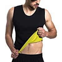 Roseate men's Body Shaper Tummy Fat Burner Sweat Tank Top Weight Loss Workout Shapewear Sauna Girdles