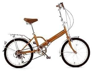 Raychell(レイチェル) 6段変速折り畳み自転車/MF-206 ゴールド 20インチ MF-206GO