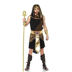 LEG AVENUE(レッグアベニュー) メンズ Egyptian God チュニック ベルト リストカフス サッシュ ヘッドピースセット ML ゴールド /ブラック 85605