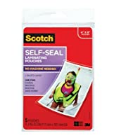 """3M Laminating Pouches ( 4"""" x 6"""" ) 5per package"""