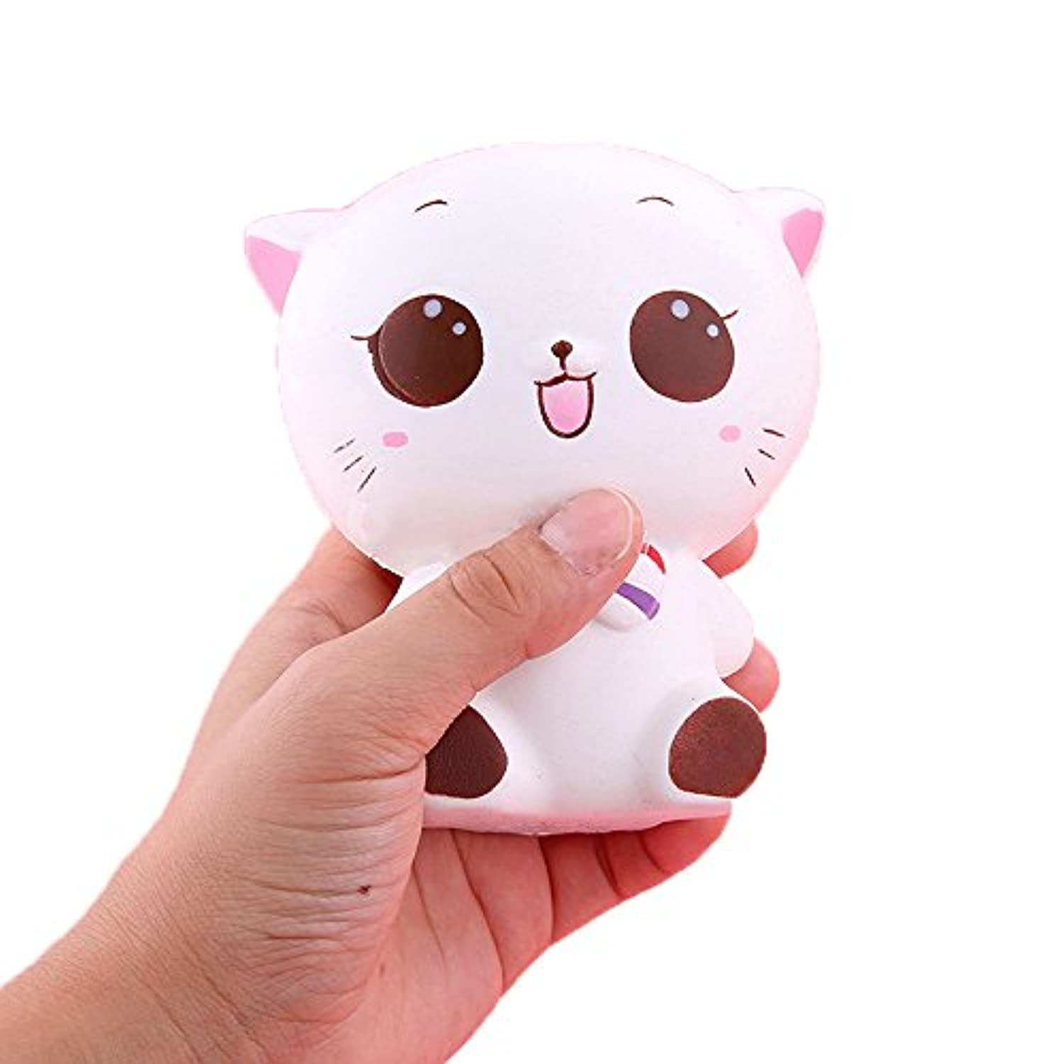 ftxj Squishy Kitty Cat人形Slow Risingソフトピンチstressreliever Kid Toy電話チャーム 11.5*10cm FTXJ -1860511
