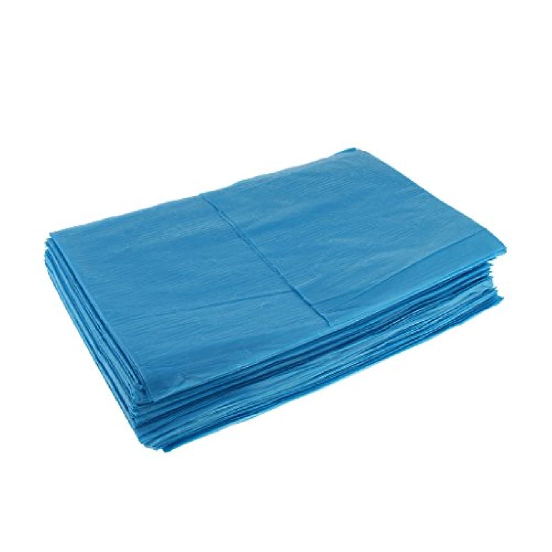 撃退する恐れフェッチ10枚 使い捨て ベッドシーツ 美容 マッサージ サロン ホテル ベッドパッド カバー シート 2色選べ - 青