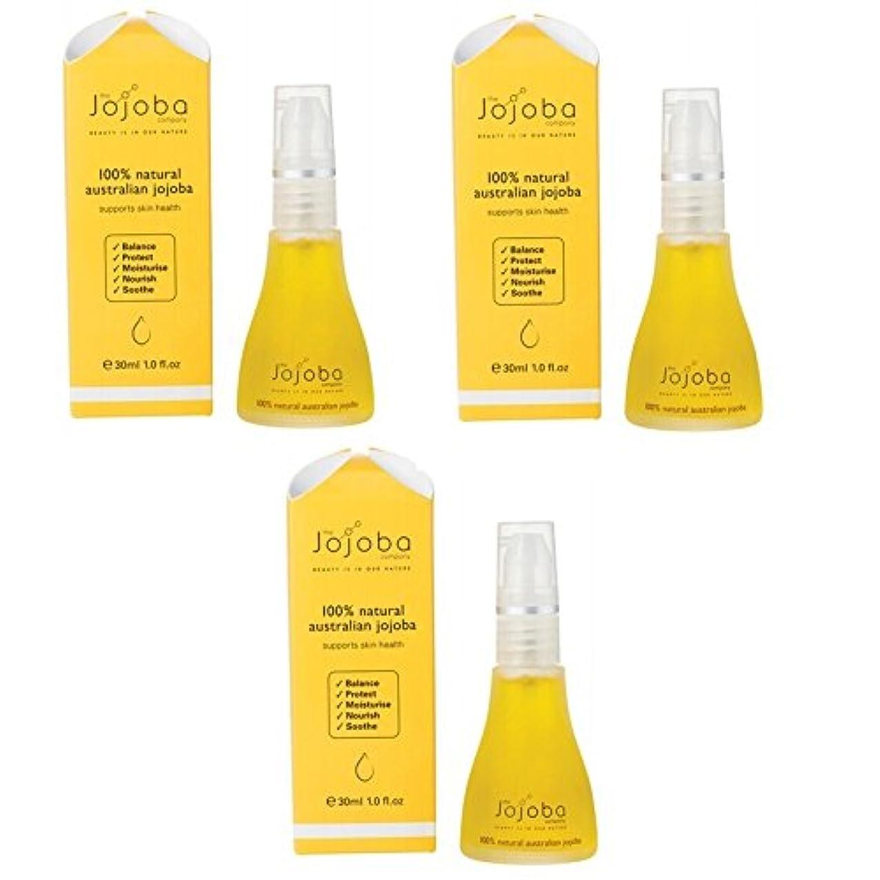従順な材料ゼリーthe Jojoba Company 100% Natural Australian Jojoba Oil 30ml 3本セット [海外直送品]