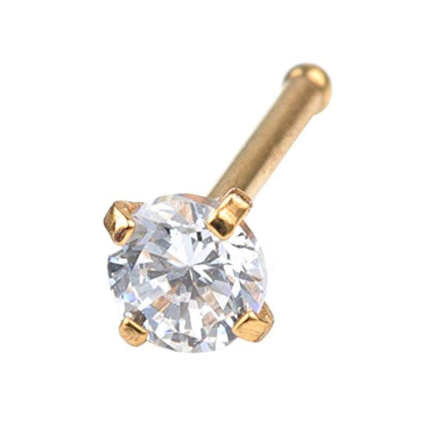 感じる森盗賊20 gラウンドダイヤモンドキュービックジルコニアクリスタル鼻スタッドリングピアスジュエリー