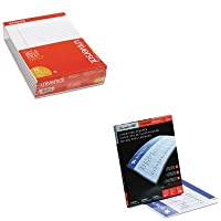 kitswi3745003unv20630–Valueキット–Swingline Fusion EZUse Laminating Pouches (swi3745003) とユニバーサルPerforated Edge手書きパッド(unv20630)