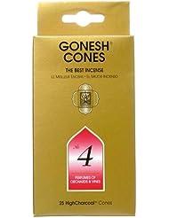 ガーネッシュ(GONESH) ナンバー インセンス コーン No.4 25個入(お香)