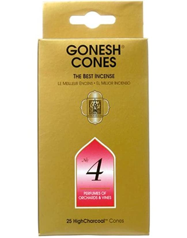 ファンタジー指紋インゲンガーネッシュ(GONESH) ナンバー インセンス コーン No.4 25個入(お香)