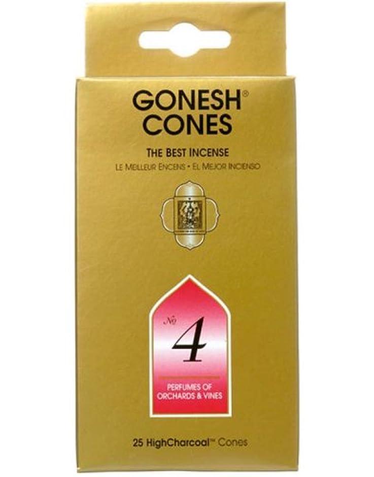 依存するメアリアンジョーンズバッフルガーネッシュ(GONESH) ナンバー インセンス コーン No.4 25個入(お香)