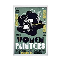 Advert Art Gallery Women Painters USA Boston Wall Art Print 広告女性ペイントアメリカ合衆国壁