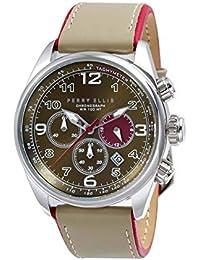[ペリー・エリス] 腕時計 GT クォーツ 44 mmケース 本革バンド  01004-01 メンズ 正規輸入品 ベージュ