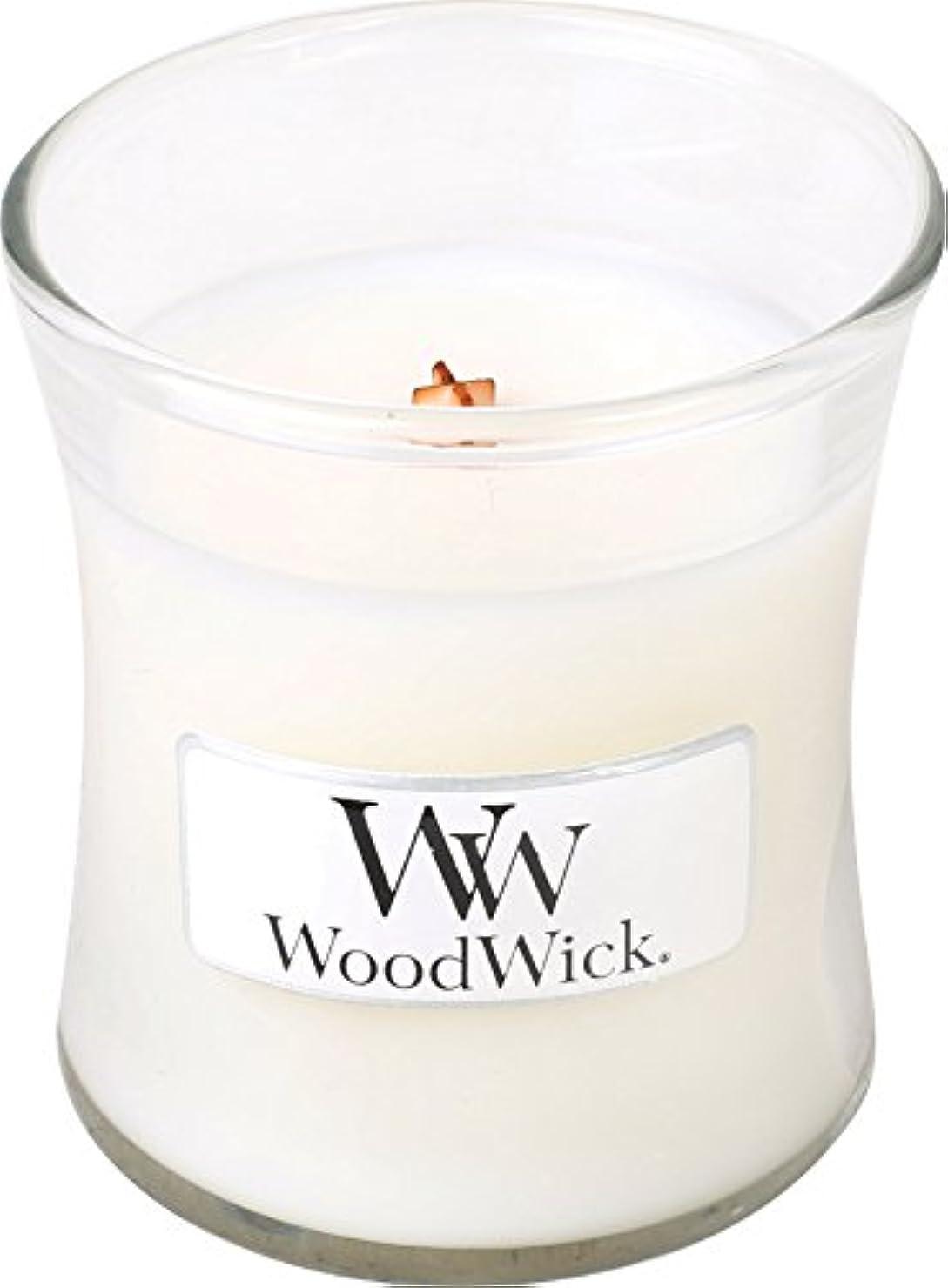 忠実なする襟Wood Wick ウッドウィック ジャーキャンドルSサイズ ホワイトティージャスミン