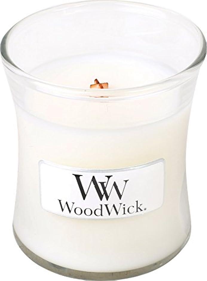 細心の粘液種をまくWood Wick ウッドウィック ジャーキャンドルSサイズ ホワイトティージャスミン