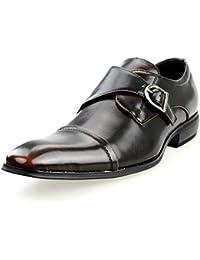 [エムエムワン] MM/ONE ビジネスシューズ メンズ 男性 靴 スリッポン ローファー ロングノーズ プレーントゥ スクエアトゥ サイド レースアップ シューズ 紳士靴 ブラック ブラウン ダークブラウン